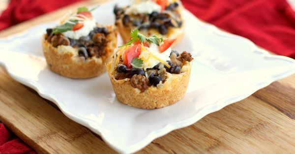 ... | Recipes - Muffin Tin | Pinterest | Tacos, Mini tacos and Taco pie
