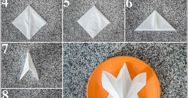 Star Napkin Fold How To Fold A Napkin Pinterest