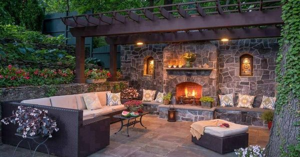 Backyard retreat outside lounge pinterest backyard retreat backyard and woods Kitchen bath design center bedford hills ny