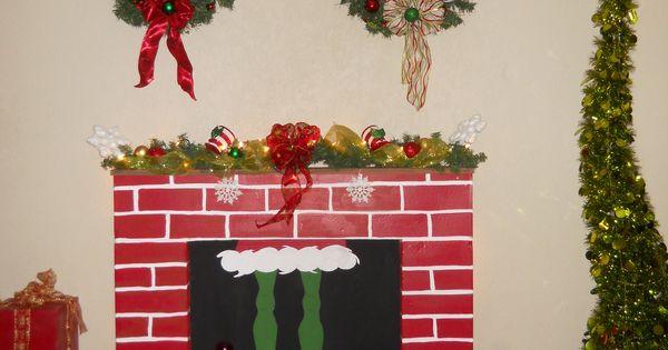 Diy Grinch Fireplace Grinchmas Decor Pinterest