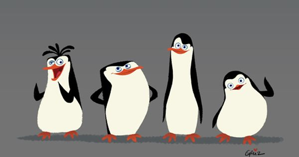 Griz And Norm Character Designs For Penguins Of Madagasgar It S A Gif Look Closely Animati Penguins Of Madagascar Character Design Dreamworks Characters