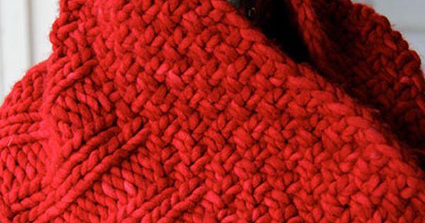 Knitting Circle Toronto : Free pattern red rasta cowl great for beginners quick