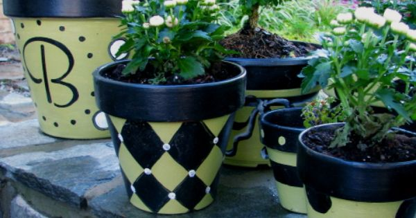 Painted Pots - Other Space Designs - Decorating Ideas - HGTV Rate