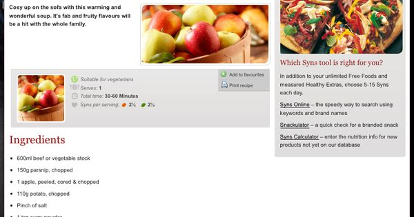 Slimming World Parsnip & Apple Soup | Food | Pinterest ...
