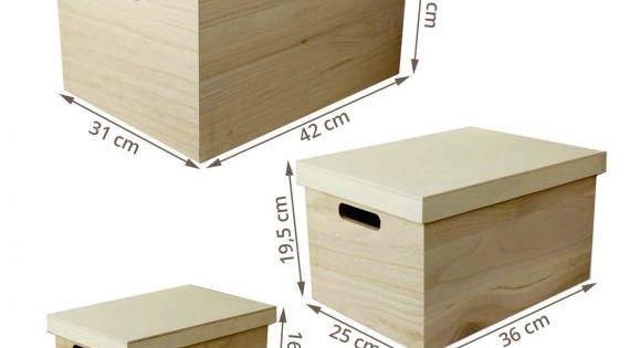 Boites De Rangement En Bois Avec Couvercle Lot De 3 Boite De Rangement Bois Boite De Rangement Caisse Rangement