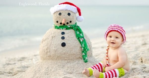 Image result for kid christmas in the beach