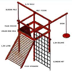 Home Dzine Co Za Diy Make This Rustic Jungle Gym Jungle Gym Outdoor Jungle Gym Play Houses