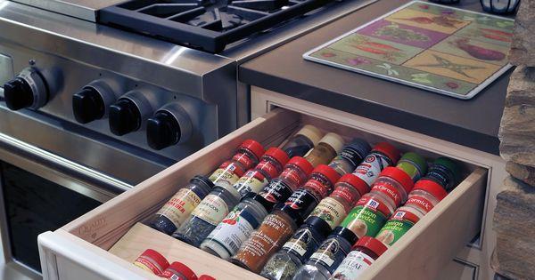Spice drawer buenas ideas pinterest organizadores for Buenas ideas decoracion