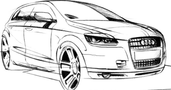 Audi Car Q4 Coloring Page Audi Car Coloring Pages Cars