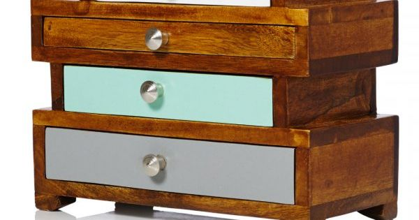ethel four drawer wooden jewellery box 3