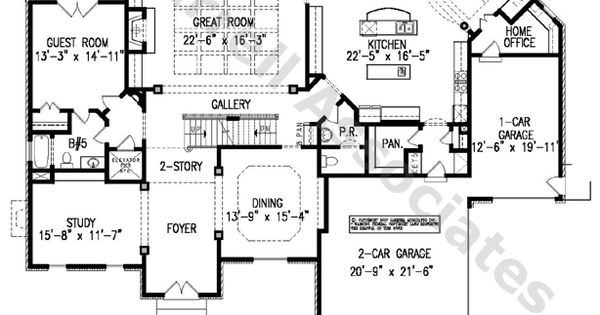 Luton Hall House Plan 06362 1st Floor Plan Traditional