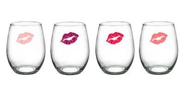 Luminarc Girlfriends 15 Oz Stemless Wine Glass Wine Glass Wine Glass Set Red Wine Glasses