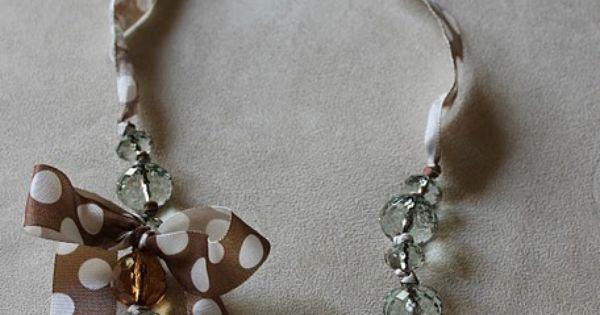 Ribbon necklace diy