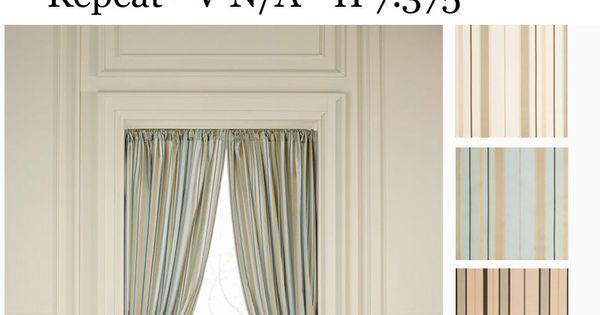 Sorrento Stripe Curtain Drapery Panels Nfpa 701 Fr Fire