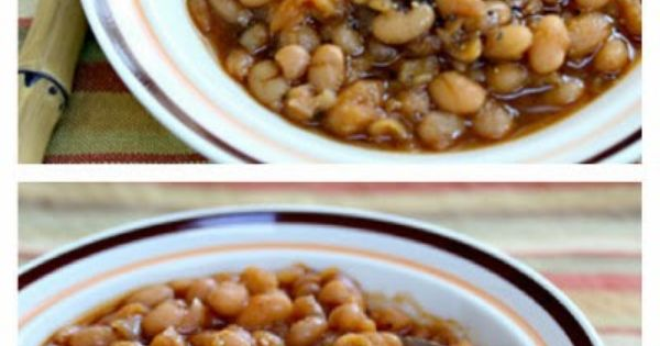 cooking outside and these Slow Cooker Vegetarian Chipotle Baked Beans ...