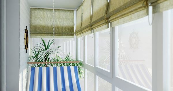 Apartment balcony apartment design ideas decoration swing for Hammock for apartment balcony