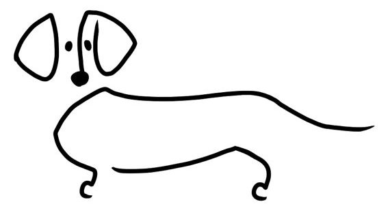 Line Drawing Dachshund : Dachshund decal by supatoon on etsy doxie love