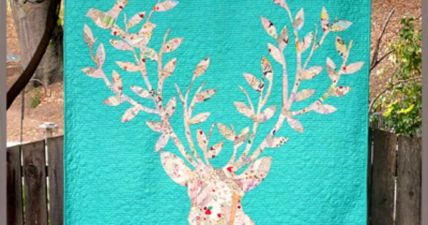 Stag Nation Quilt Pattern By Rana Heredia Sewn Into The