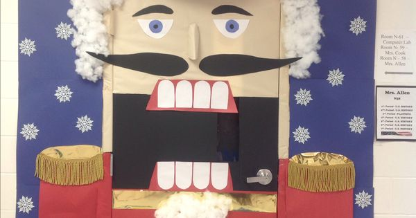 Nutcracker Classroom Door Decor For Christmas For Later