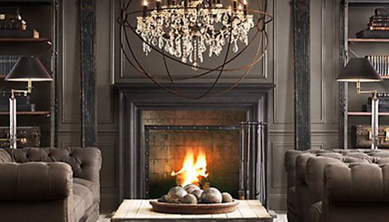 fireplace and wall color, light fixture, fireplace grate