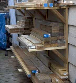 Outdoor Wood Rack Outdoor Outdoorwoodproject Rack Wood In 2020 Gereedschapsopslag Opslag Werkbank
