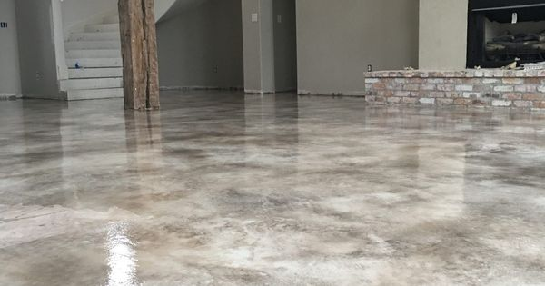 Micro Topping Concrete Overlay With Stain And Sealed