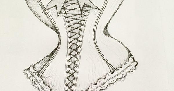 Corset sketch   artsy-fartsy   Pinterest