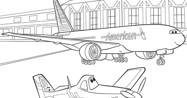 quot Planes quot coloring sheet from American Airlines Coloring