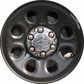 Set Of 4 Stl8074 Chevy Tahoe Suburban Police Steel Black Wheels