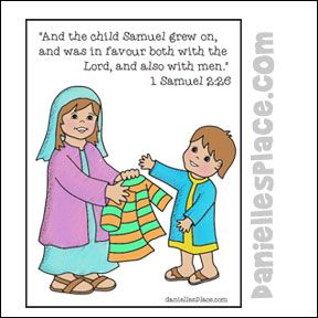 Hannah Gives Samuel A New Coat Coloring Sheet From Www
