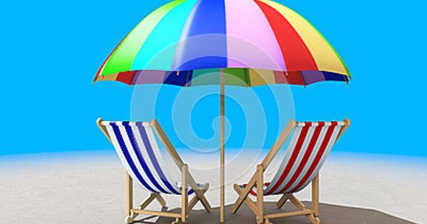 Dos Sillas De Playa Debajo De La Sombrilla Sillas De Playa Sombrillas Para Playa Playa Dibujo