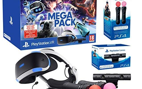 Playstation Vr2 Mega Pack Skyrim Doom Wipeout Astro Bot Vr Worlds Paire Twin Move Controllers Skyrim Playstation Astro