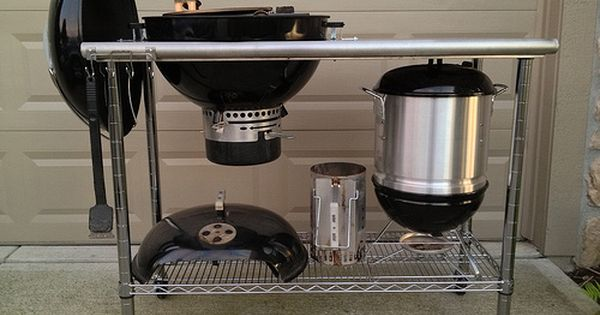 115 Weber Kettle Cart Page 2 The Bbq Brethren Forums Grill Table Diy Grill Weber Kettle