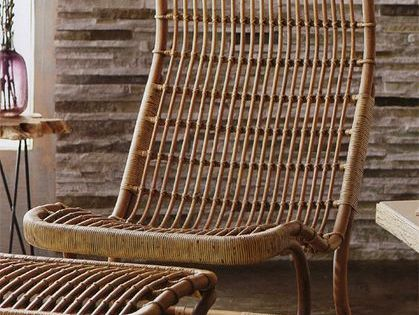 The Anders High Back Wicker Chair Wicker Chairs Rattan