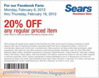 Free Printable Sears Coupons Free Printable Coupons Printable Coupons Print Coupons