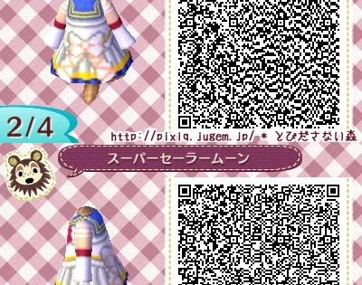 Sailor Moon Animal Crossing New Leaf Qr Code Acnl Geek At