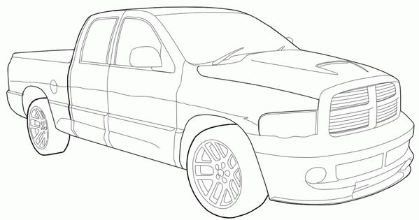 dodge ram 1500 trucks truck car coloring pages new cars