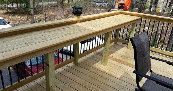 Patio Deck Bar Designs: Custom Wood Bar Top!