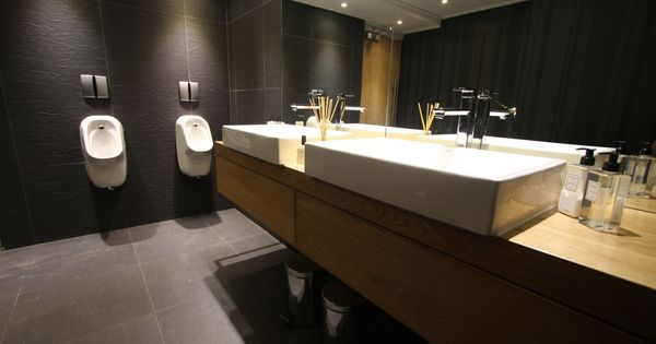 creating useful office restroom design glamour office restroom design restaurant pinterest creativity offices and slat - Restroom Design