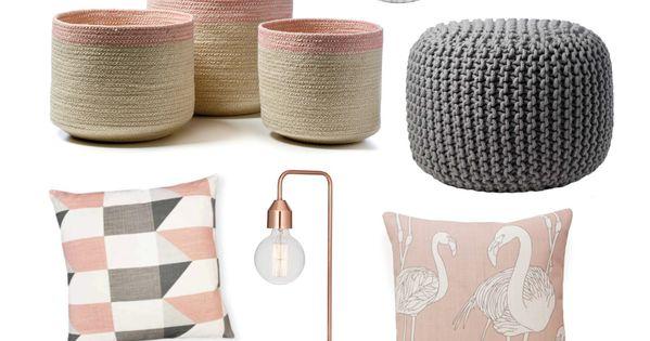Colour trend - Blush pink  거실, 핑크골드 및 집안 꾸미기
