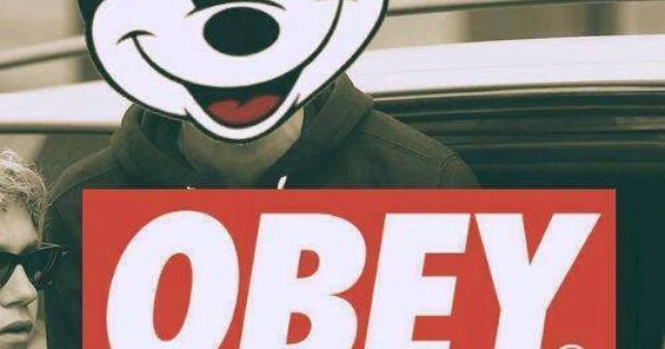 obey mickey backgroundswallpapers pinterest