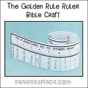 graphic about Golden Rule Printable known as Golden Rule Ruler Craft against  Youngster bible
