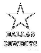 Dallas Cowboys Coloring Page Football Coloring Pages Coloring