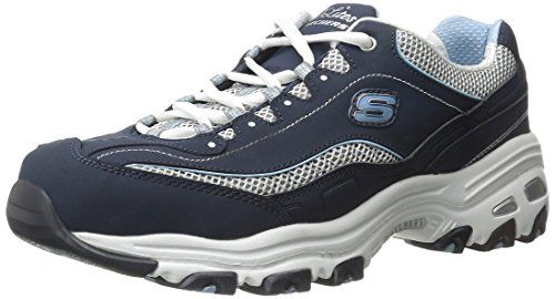 Skechers Sport Women's D'Lites Memory Foam Lace up Sneaker MehEV