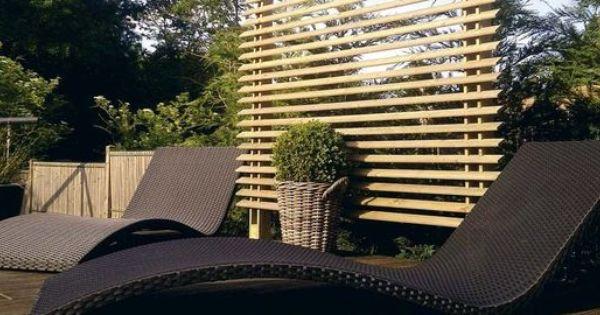 Jardin terrasse se cacher des voisins jardin pinterest voisin cache - Brise vue entre voisin ...