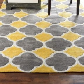 Image Result For Yellow Grey Contrast Quatrefoil Rug Yellow Rug
