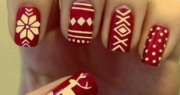 Christmas Sweater inspired nails nailsart nailsdesings DIY
