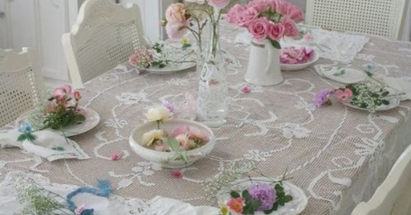 Manteles todo sabby chic pinterest chic antiguo - Manteles shabby chic ...