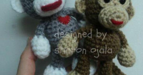 Amigurumi To Go!: Crochet Little Bigfoot Monkey (amigurumi ...