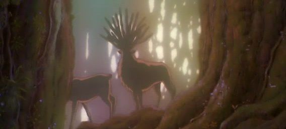 princess mononoke forest spirit scene